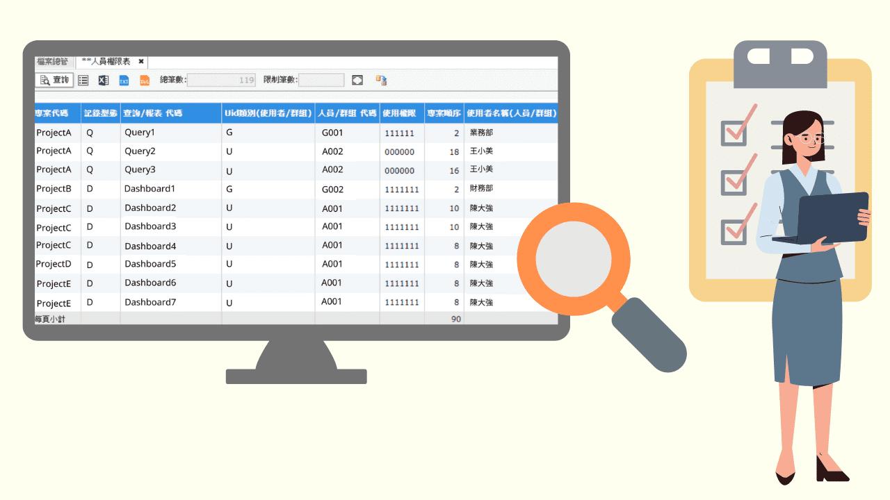 匯出使用者及頁面資料